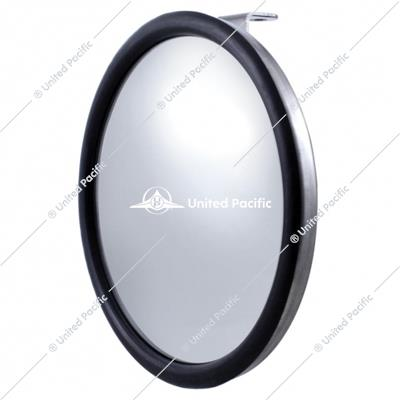 "8 1/2"" Stainless Steel Convex Mirror With Offset Mounting Stud"