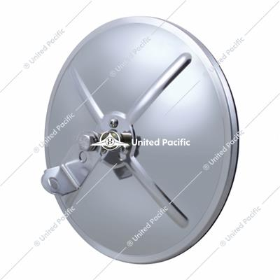"8 1/2"" Chrome Convex Mirror With Centered Mounting Stud"