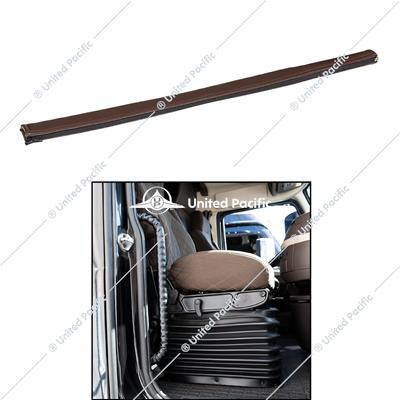 "27.5"" Driver Assist Grab Bar Cover - Brown Engineered Leather"