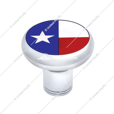 Chrome Thread-on Gearshift Knob - Texas Flag