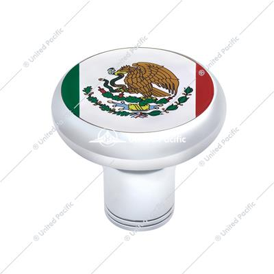Chrome Thread-on Gearshift Knob - Mexico Flag