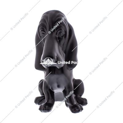 Matte Black Die-Cast Bassett Hound Ornament