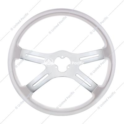 "18"" Vibrant Color 4 Spoke Steering Wheel - Liquid Silver"